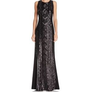 Adrianna Papell Sequined Sleeveless Dress Gown